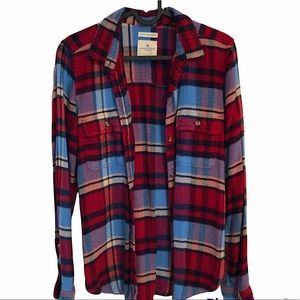 American Eagle Outfitters Ahh-Mazingly Soft Classic Fit Plaid Button Flannel